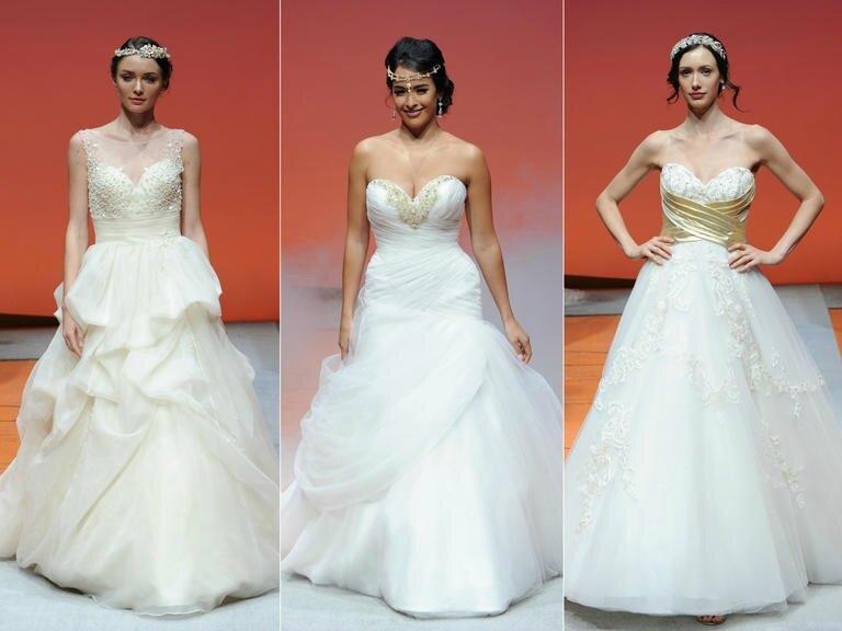 Disney Fairytale Mariages de robes de mariée Aurore Blanche-neige Jasmine Alfred Angelo pour l'automne 2016