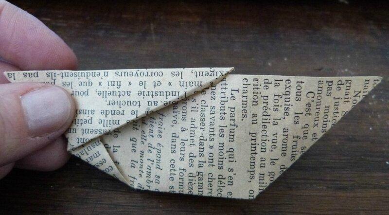 Tuto lapin origami papier ancien (20)