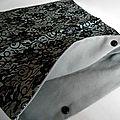 Pochette lingerie dentelle noire