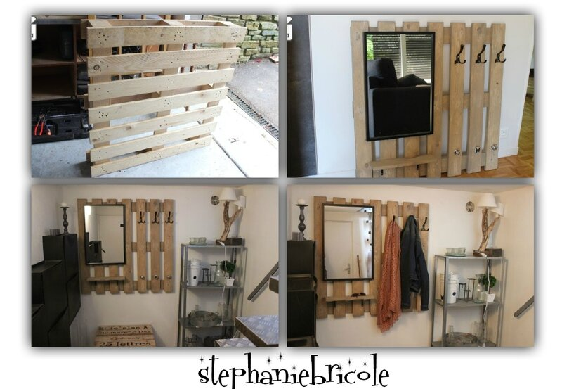 diy palette recup un porte manteau et rangement st phanie bricole. Black Bedroom Furniture Sets. Home Design Ideas