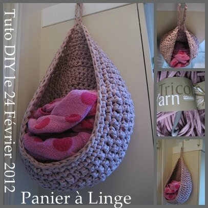 panier linge d fi n 18 rangement tuto madame fait du crochet. Black Bedroom Furniture Sets. Home Design Ideas