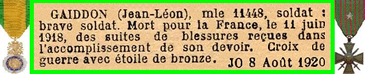 GAIDDON J L
