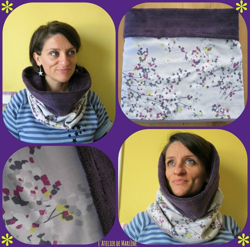 Collage snood gris