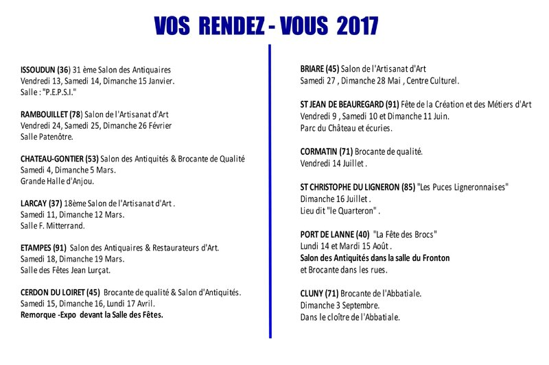 PLANNING PREVISION 2017