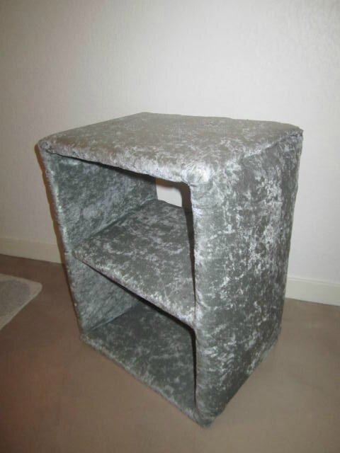 Une etagere table de chevet en style pouf customized by me - Table de nuit etagere ...