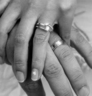 bague mariage doigt homme #3