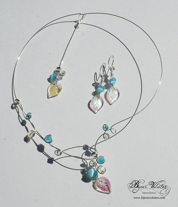 parure-bijoux-mariage-celeste-turquoise-feuilles
