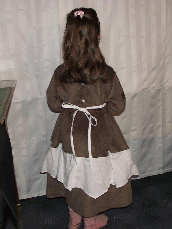 Robe Rachel Farbenmix velours marron 5