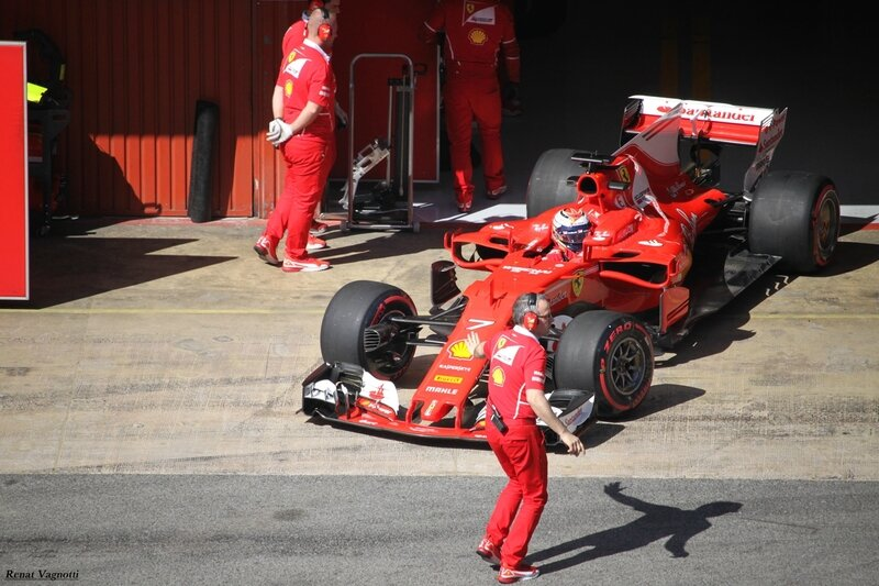 2017-Barcelone test-SF70H_Raikkonen-2