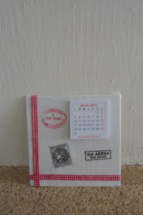 Calendrier tampons