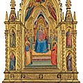 Bernardo daddi (active florence c. 1318-1348), the madonna and child enthroned with saints