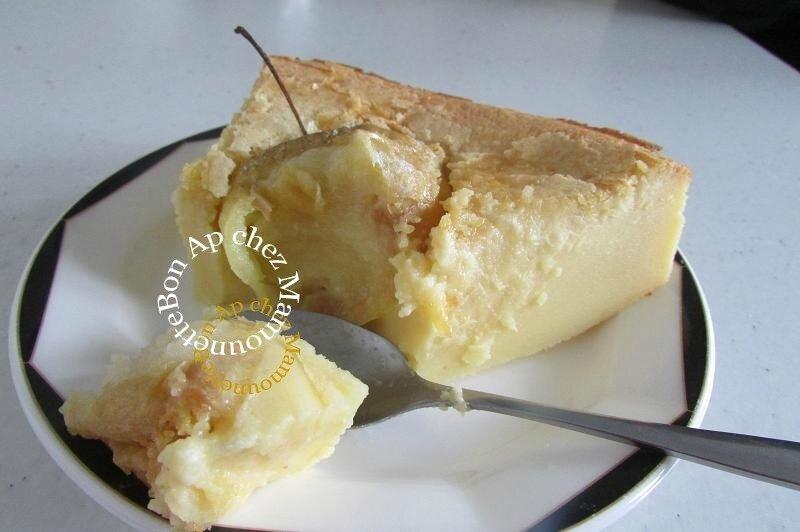 gâteau aux pommes de mon verger mascarponé et amandé 020