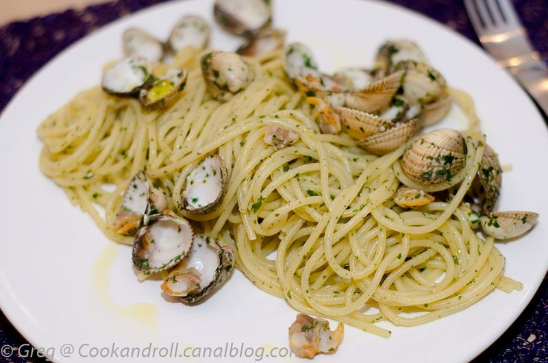 spaghetti alle vongole cook n roll