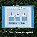 Cartes cup-cake anniversaire