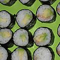 Makis saumon fumé/avocat