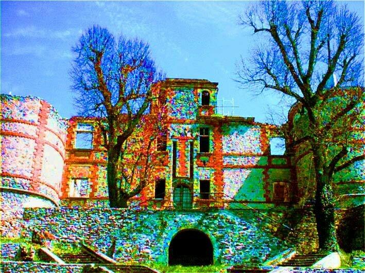 surexposition du château de La Chaux-Montgros