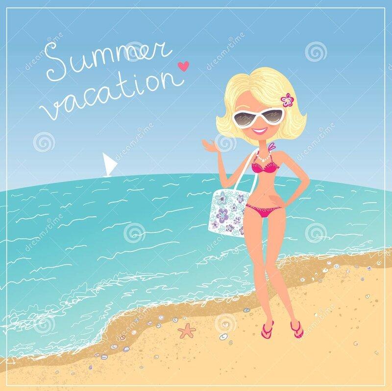 summer-holidays-happy-blondy-girl-stand-beach-cartoon-character-illustration-design-30801475
