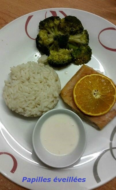 Saumon et sauce coco vanille