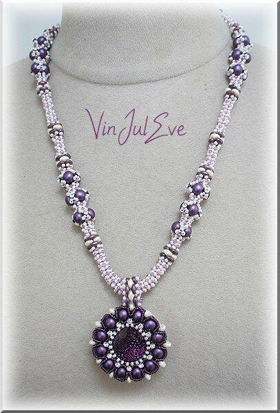 collier Lyss Paris violet blanc 1