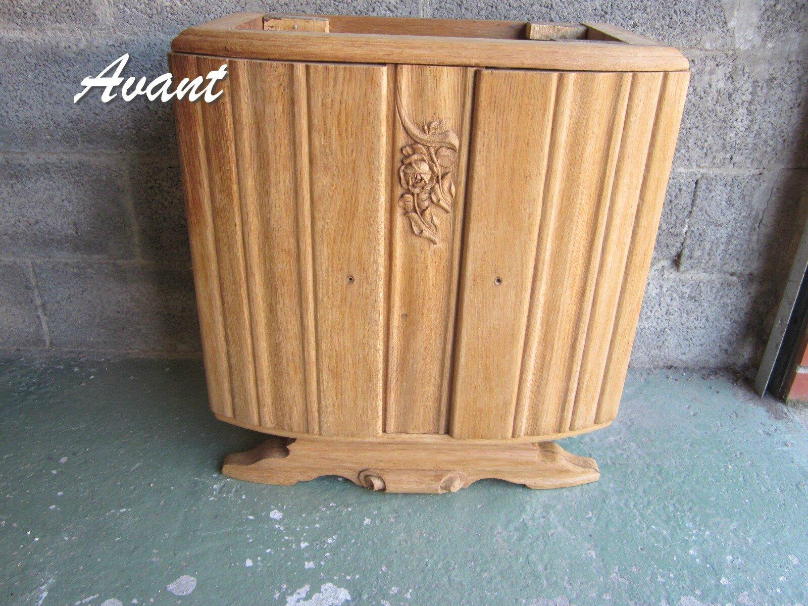 Avant apres meuble ancien transform en meuble de salle - Faire son meuble salle de bain ...
