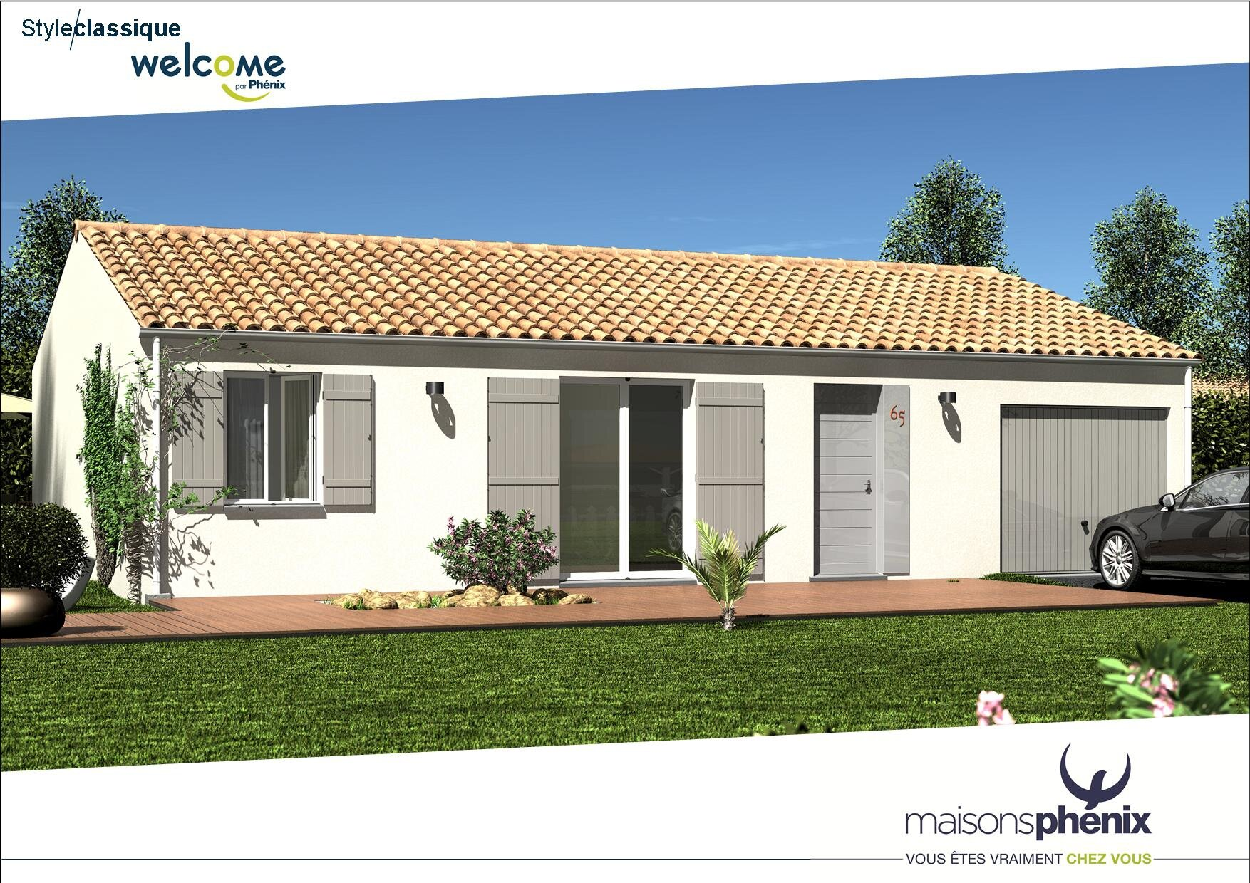 1764 lot 8 a long ves votre maison ph nix welcome 90m avec garage agence immobiliere - Maison phenix modele ...
