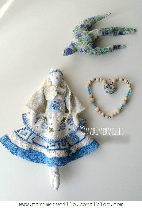 la petite poucette à l'hirondelle - poupée N°7- Marimerveille
