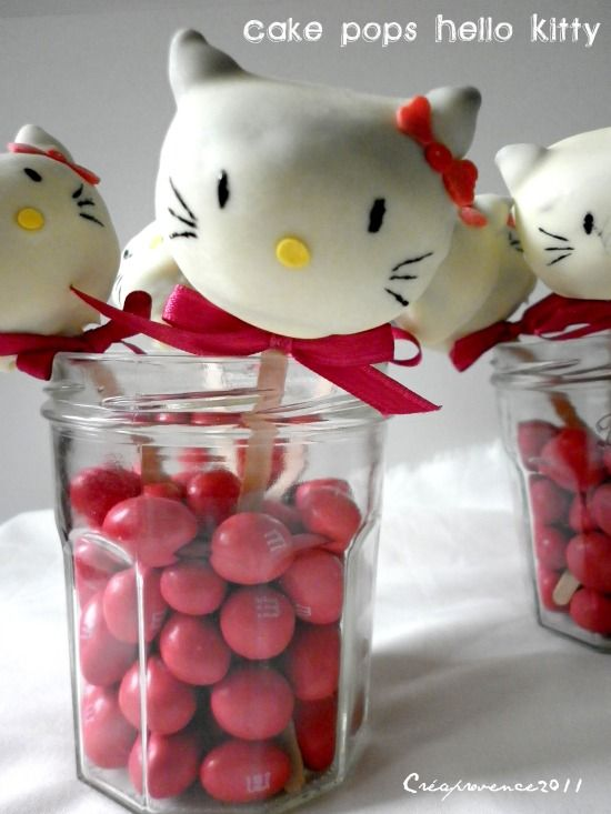 Cake pops Hello Kitty - Prunille fait son show...