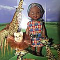 enfant de barbie: Kelly:friends of the world: le Kenya