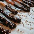 Bâtonnets chocolat / sésame
