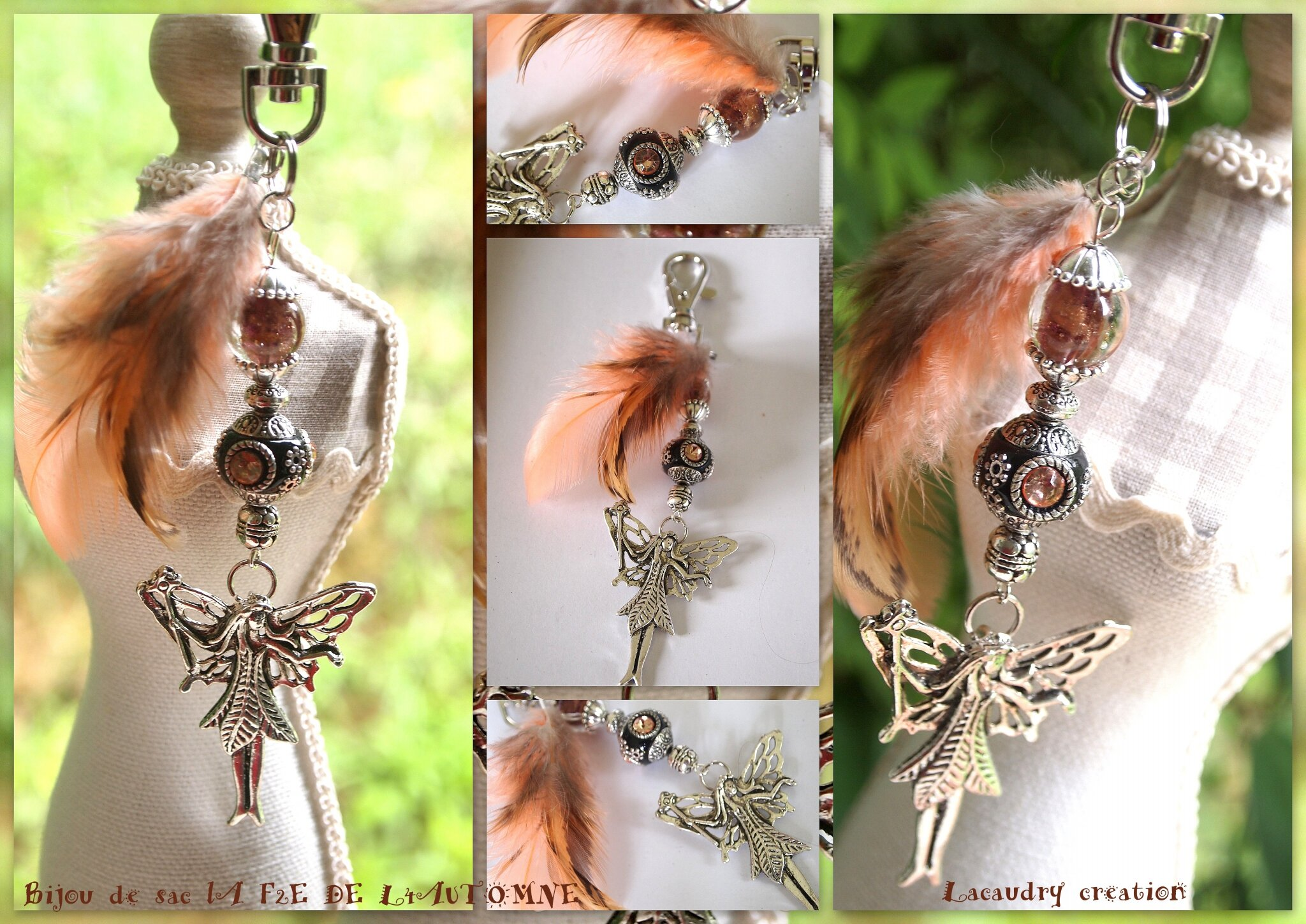 des Bijoux aux Couleurs d'automne ....des fées, coeurs et colibris