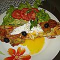 Tartinettes pesto, tomates, mozzarella, poivre de cassis de mon partenaire avec son œuf poché