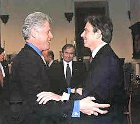 Bill Clinton and Tony Blair