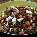 Salade de lentilles aux patates douces grillées et à la feta - by claire -