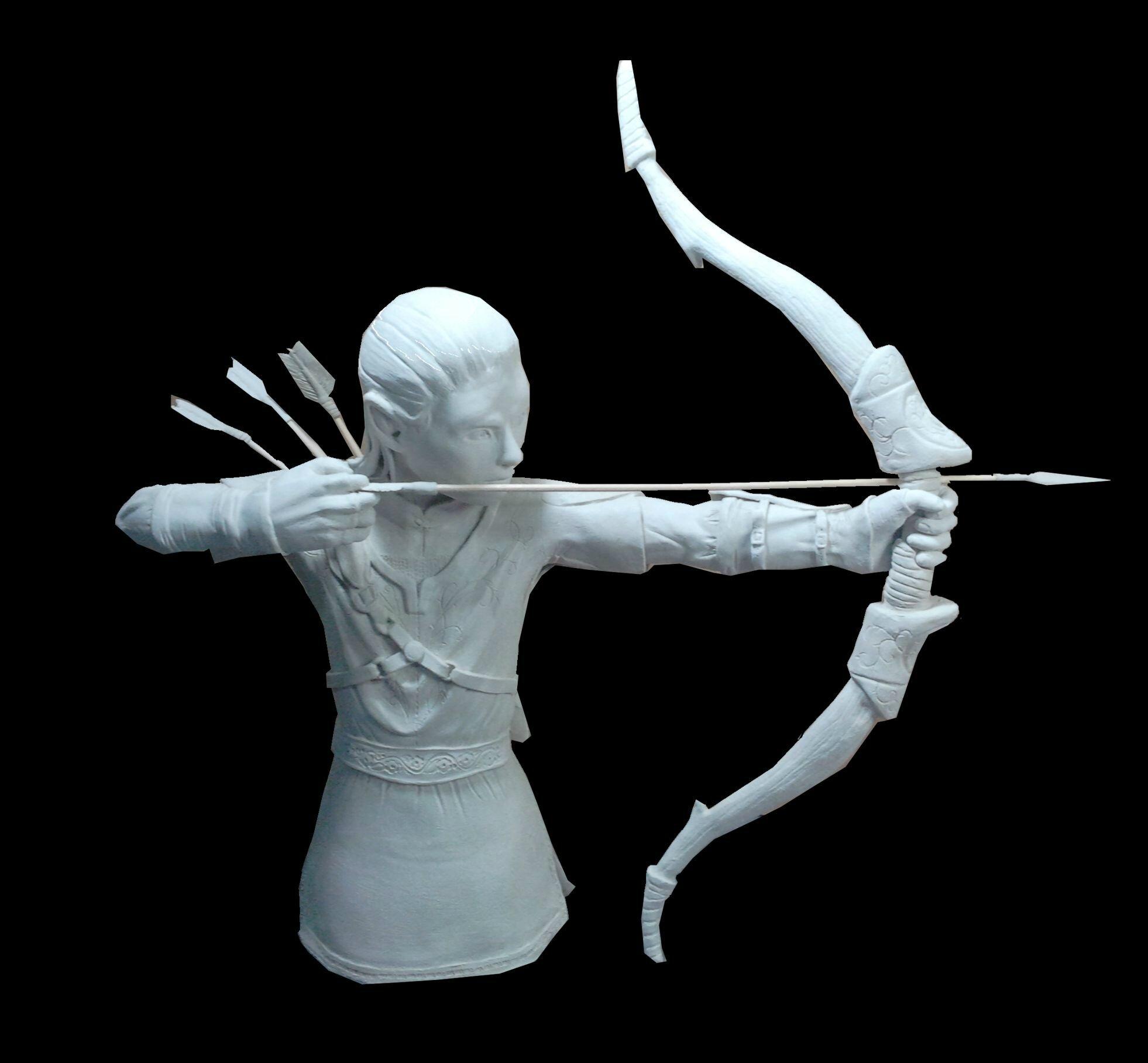 elfe archer: les détails de la tunique.