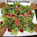 Salade de filets de rouget et tortillas grillées