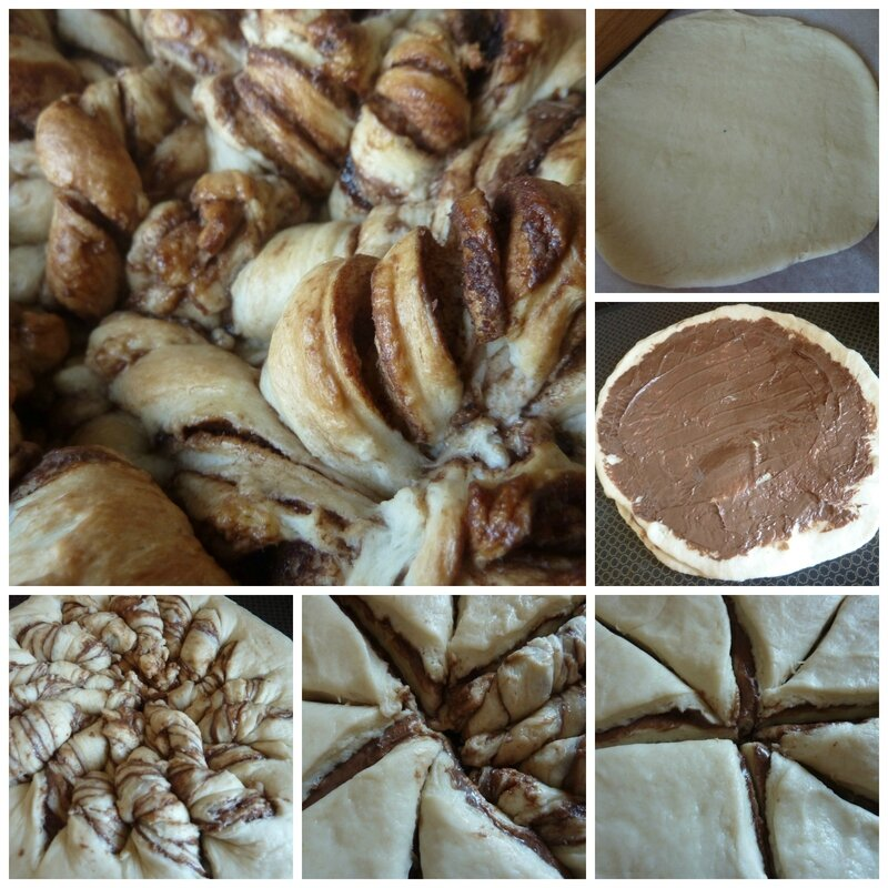 twist nutella collage