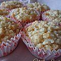 ♥ cupcakes façon crumble aux pommes