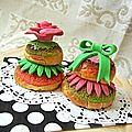 Religieuses  ma faon {craquelin color et pte  sucre }