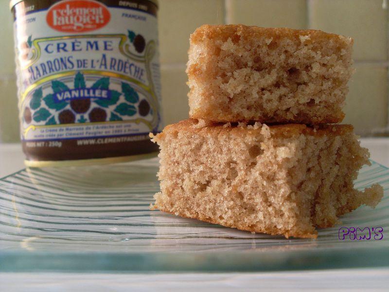 gâteau à la crème de marrons - la cuisine de pim's & compagnie