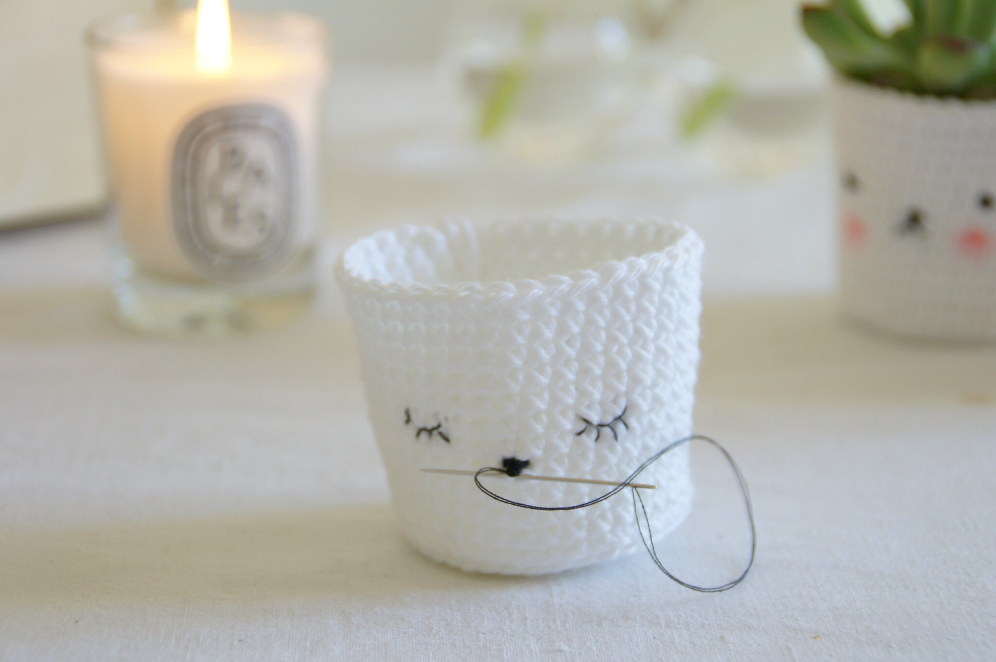 Beliebt Cute crochet plants pots *.* - Tournicoteà cloche-pied BP34