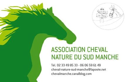 carte de visite association cheval nature du sud manche