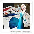 Déco - paper doll la reine des neiges