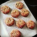 Les cookies de la mort qui tue aux éclats de pralines roses