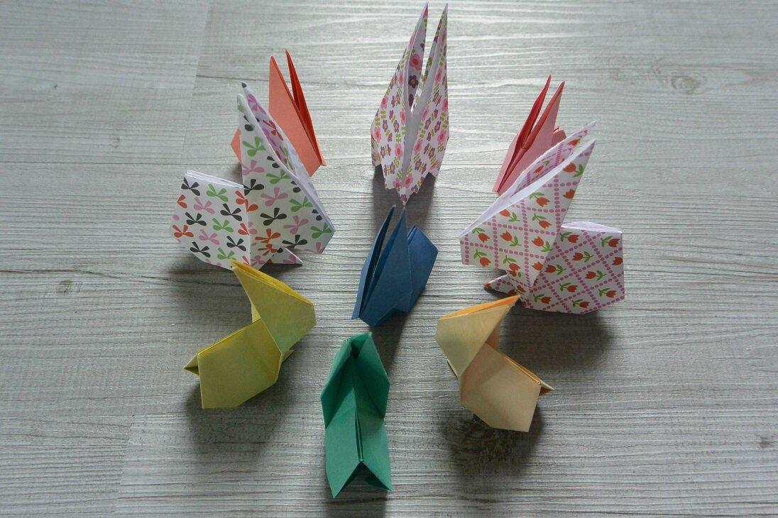 Mes lapins en origami (DIY de Pâques)