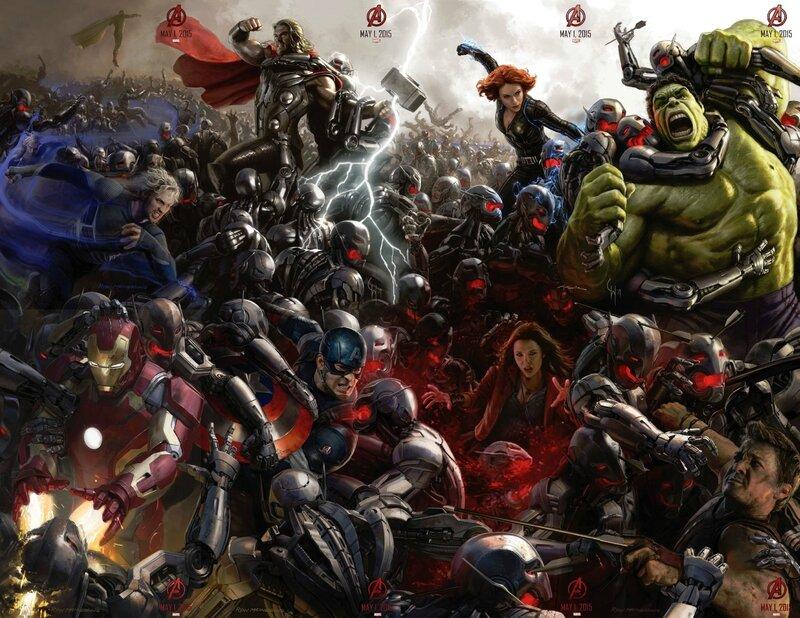 Avengers 2 (affiche géante concept-art)