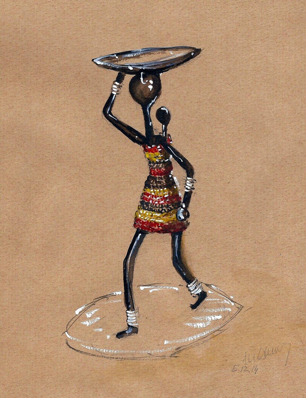 Artisanat statuette AS