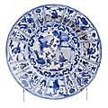 Kraak plate, china, 17th century, transitional period (1635-1655)