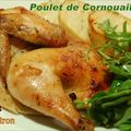 Poulet de Cornouailles  l'rable et au citron, pommes de terre grilles au four et salade roquette et pinards  l'rable