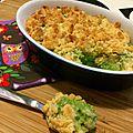 Crumble de brocoli, jambon et parmesan