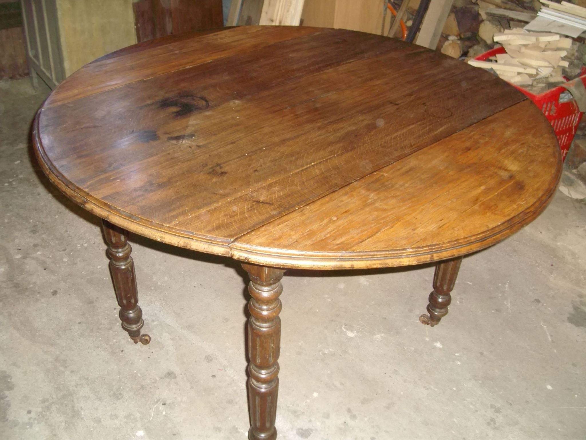 Le bon coin table ronde en bois - Relooker table en bois ...
